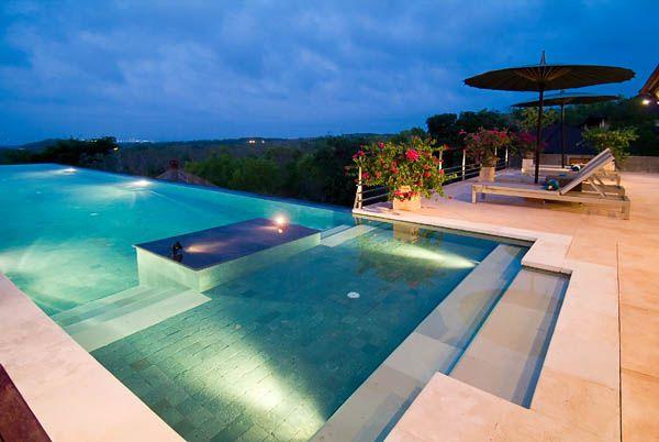 Villa Indah Manis Pool Dusk