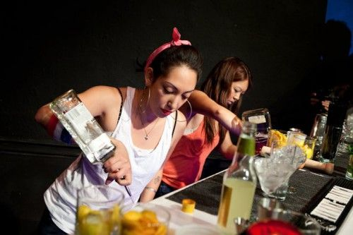 How to be a badass female bartender.