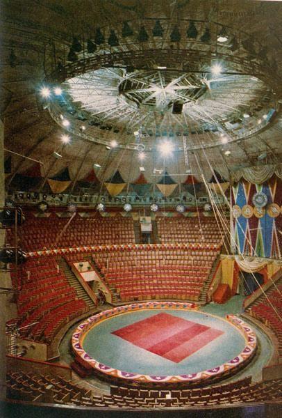 Cirque Bolshoï - 3 Quai de la Fontanka - Saint Petersbourg - Construit de 1876 à 1877 par l'architecte Vassili Quesnel - Reconstruit entre 1959 et 1963 en respectant le plan d'origine - Aujourd'hui Musée du Cirque - Intérieur.