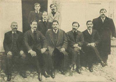 Retrato de elementos e chefes da BARRACA BUIÇA que tomaram parte no ataque ao Museu de Artilharia, na revolução do 5 de Outubro de 1910: