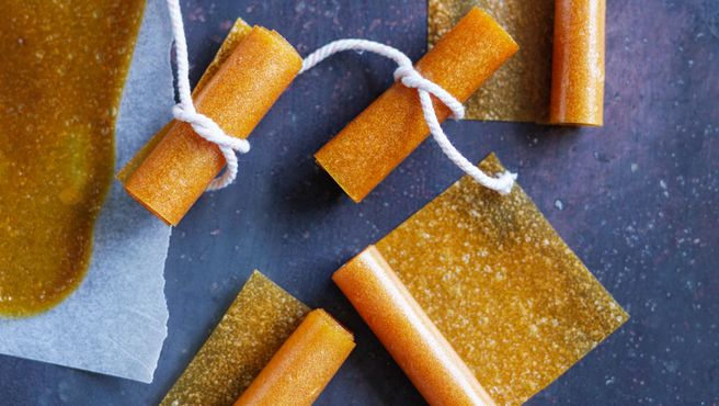 These yummy fruit leathers from Louise Fulton Keats make a perfect back-to-school lunchbox treat.