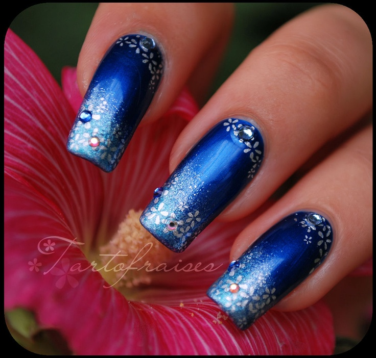 blue and forth #nails