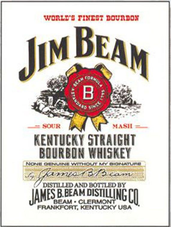 Jim Beam Kentucky Straight Bourbon Whisky Man Cave Small Metal Steel Wall Sign In 2021 Bourbon Whiskey Jim Beam Bourbon