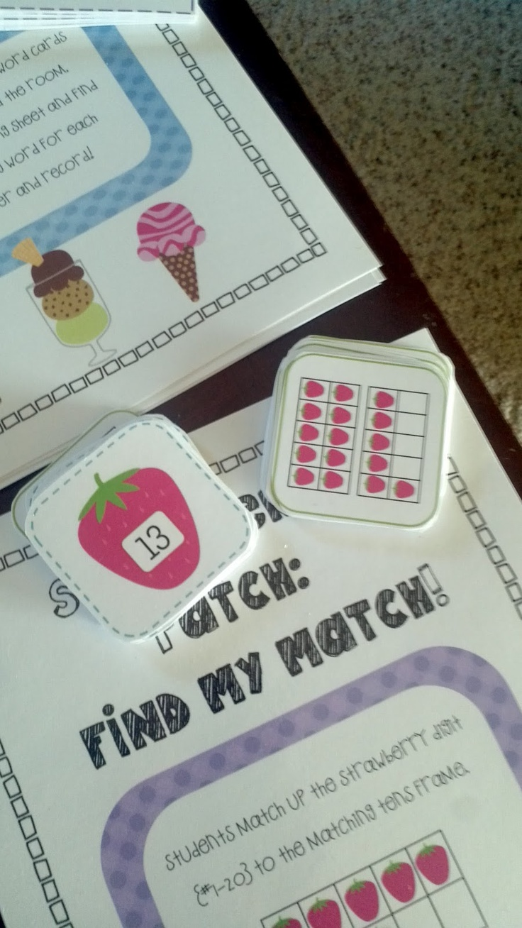 matching tens frames to numbers