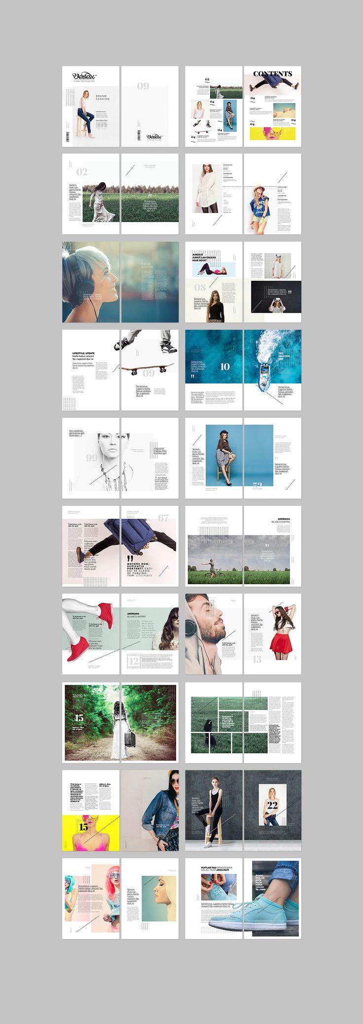 a4 size, clean cover white, clean fashion magazine, clean layout, clean magazine...