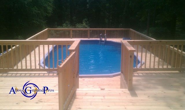 25 best images about pool deck ideas on pinterest Above ground pool installation ideas