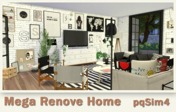 Pqsims4 Mega Renove Home With Images Sims 4 Sims Sims 4 Cc
