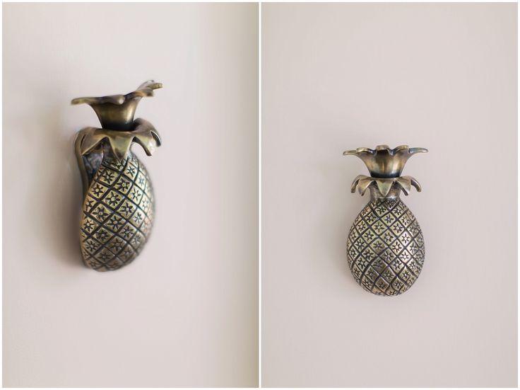 Pink Pineapple Door Knocker  |  Anthropologie  |  Raleigh Peach, Benjamin Moore |  BM Paint