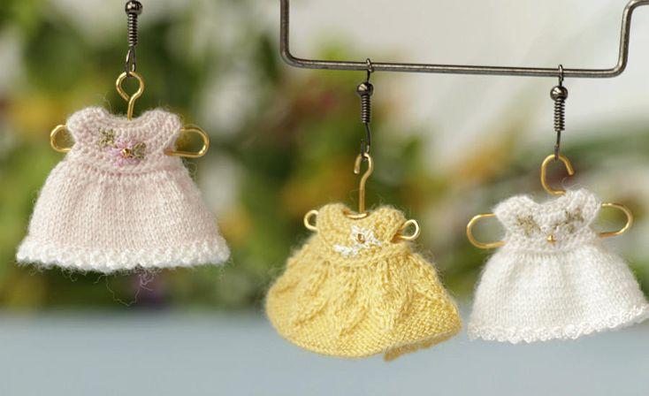 "Miniature crochet dollhouse  dress  for doll  2"". Crochet clothes for baby doll. Dollhouse dress. Dress for baby doll. Unique dolls  dress by Creativhook on Etsy"