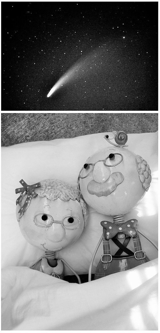 And so, it was written in the stars. They had met in 'childhood' .... ♥ Life turns full circle xx
