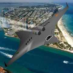 Aerospace Engineer's Supersonic, Futuristic Flying Wing
