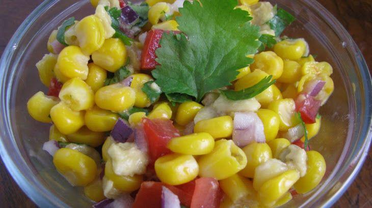 Sweet Corn and Avocado Salsa Recipe | Nourish-Me-nt | Pinterest