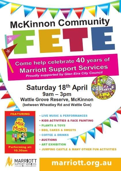 The MikMaks are performing at the McKinnon Community Fete on Saturday the 18th of April at 10.30am, for one show only. It promises to be a day packed full of entertainment for the whole family.