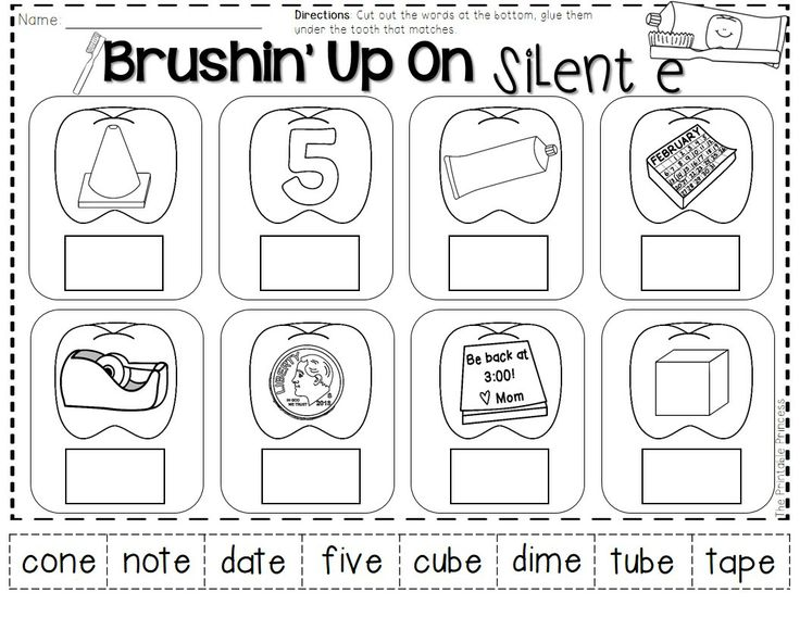 Worksheet For Be Quiet : Images about silent e on pinterest valentines cut