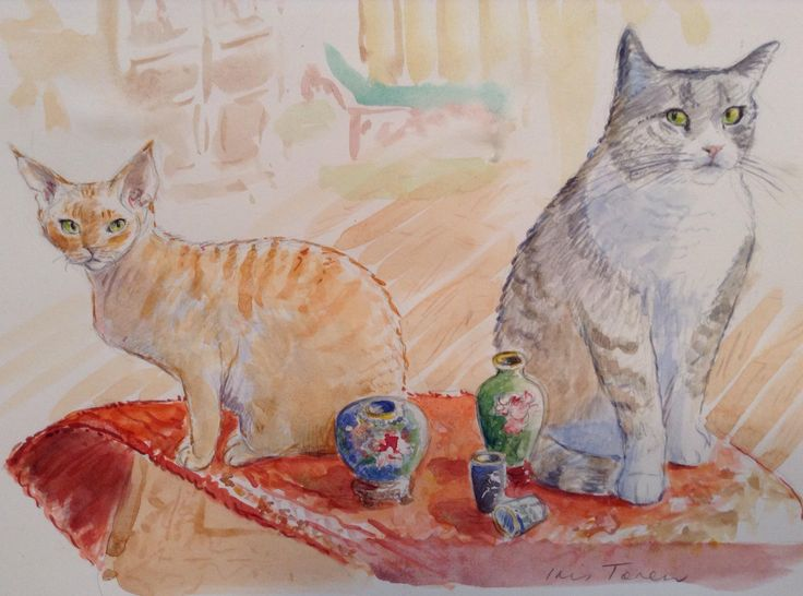 Still Life with 2 Cats