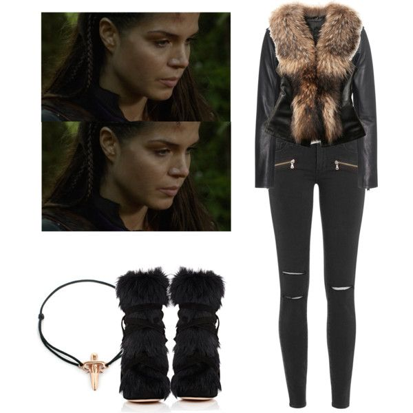 Octavia Blake - The 100 by shadyannon on Polyvore featuring mode, IRO, Paige Denim, Gianvito Rossi and LeiVanKash