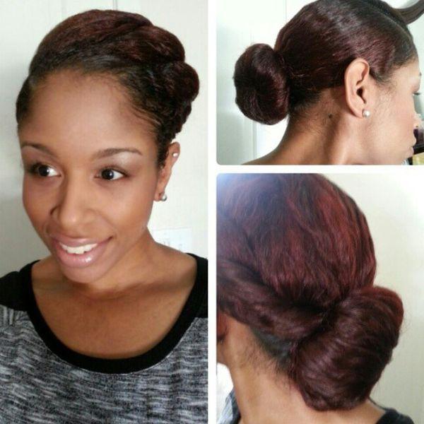 Quick Natural Hairstyles Bun | Bun hairstyle [photo gallery]