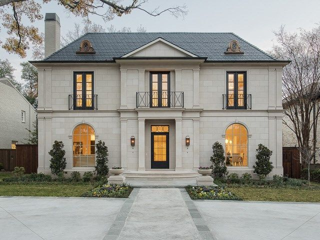 25 best ideas about french chateau homes on pinterest for Classic house facades