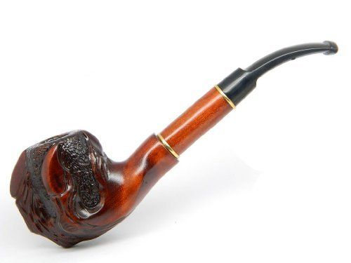 """Deluxe Tobacco Smoking pipe """"Claws"""" Carved of Pear Wood, Estate, Rare + Gift POUCH by Decor hand carved pipes, www.amazon.com/..."""