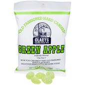 Claeys Green Apple Hard Candy Drops Bags 12-Piece Box