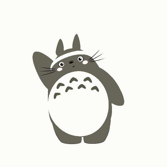 Totoro loves Zumba Totoro gifs by CL TERRY art clterryart-tumblr
