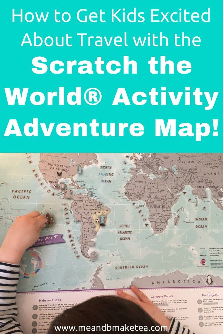 How to Get Kids Excited About Travel with the Scratch the World®️️ Activity Adventure Map! Take a look for more info and the perfect travel gift.    #gift #cartography #maps