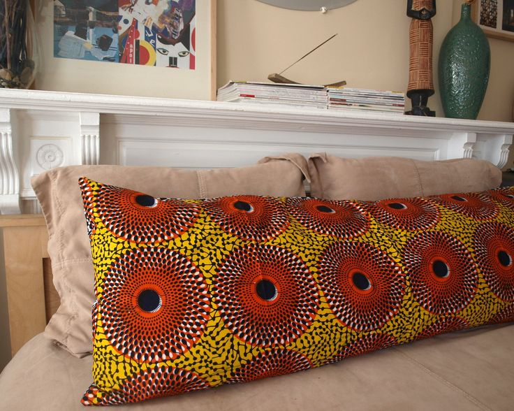 BODY Lounge Pillow: African Wax Print (Vintage Citrus). $80.00, via Etsy.