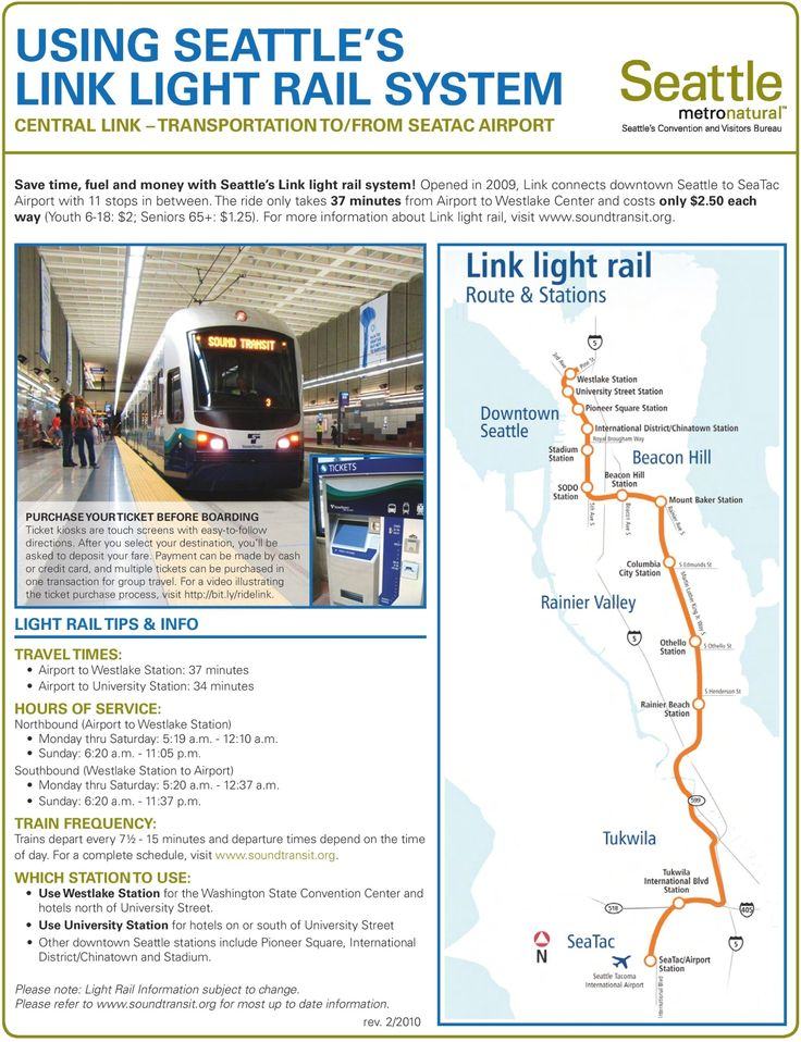 Seattle light rail map