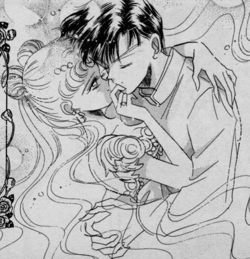Sailor Moon and Tuxedo Mask, Serena and Darien, Usagi and Mamoru