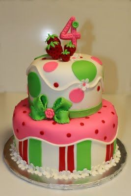 Strawberry Shortcake Cake: Cookies, Cakes Ideas, Strawberry Shortcake Cakes, Cake Ideas, Strawberries Shortcake Cakes, 1St Birthday, Girls Birthday, Birthday Ideas, Birthday Cakes
