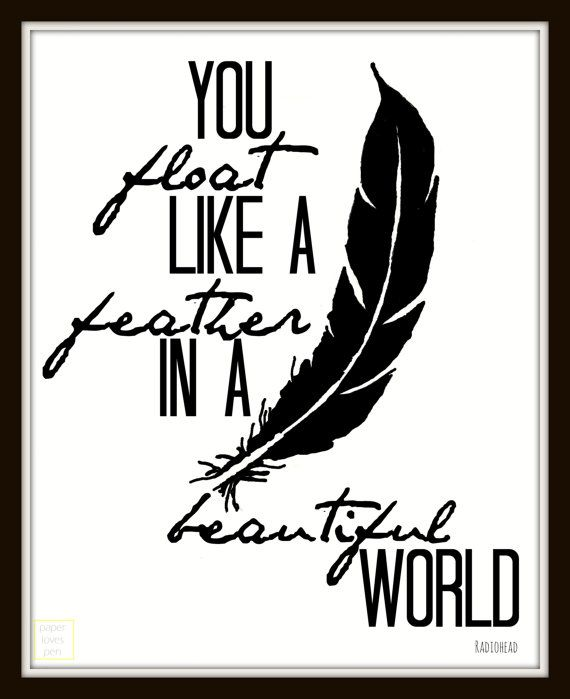 Radiohead Creep lyric Art Quote 8X10 Typography by paperlovespen, $15.00