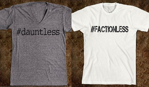 Hashtag faction Shirt from Divergent by CaffeinatedCreators