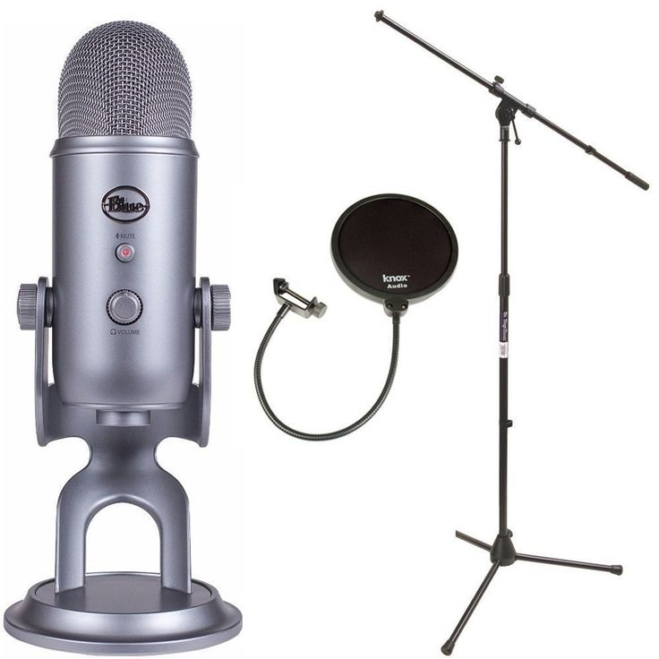 Blue Microphones Yeti USB Microphone with Mic Stand and Pop Filter for Broadcasting & Recording Microphones #ABLMYETISGK2
