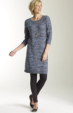 dress with leggings and flats