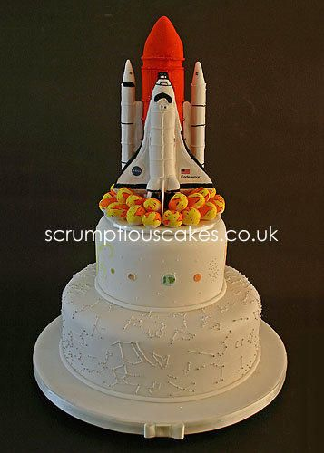 Space Shuttle Wedding Cake - Cake by Scrumptious Cakes