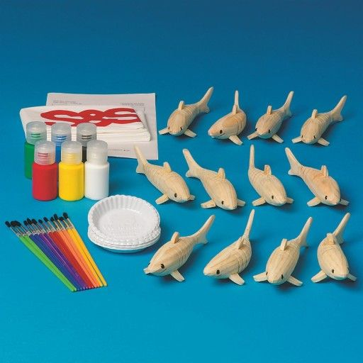 Buy Flexible Wooden Shark Craft Kit (makes 12) at S&S Worldwide  *found in store at hobby lobby for 3.49 each or 2.09 with 40% coupon but limited stock