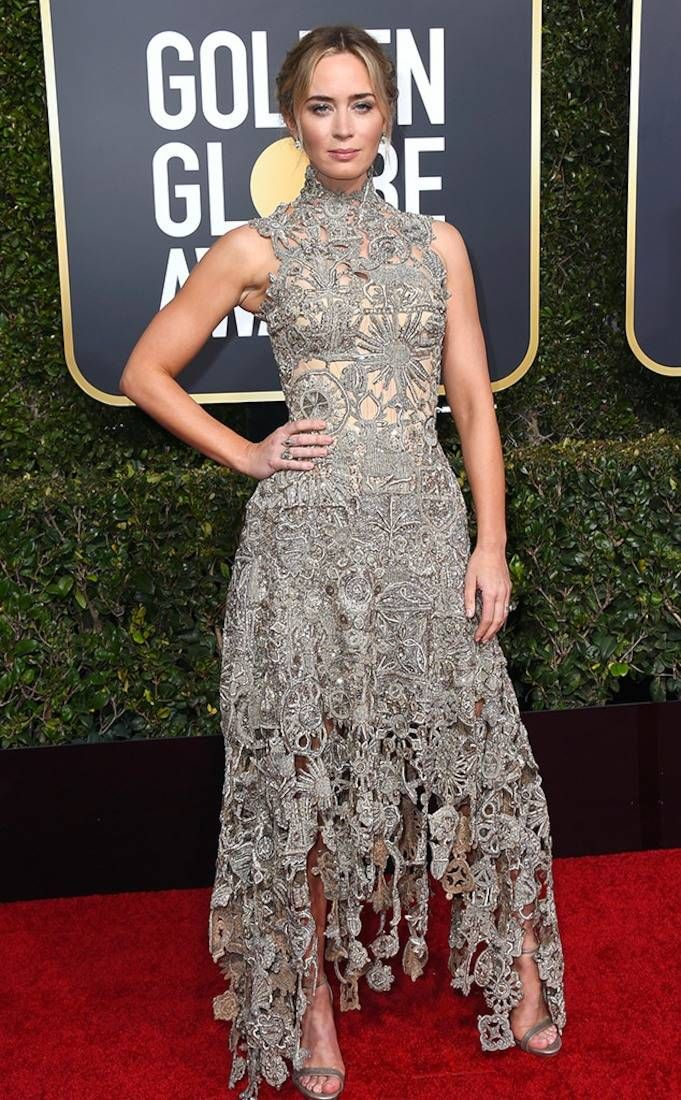 Emily Blunt from 2019 Golden Globes Red Carpet