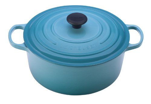 Le Creuset Signature Enameled Cast-Iron 2-Quart Round French (Dutch) Oven, Caribbean