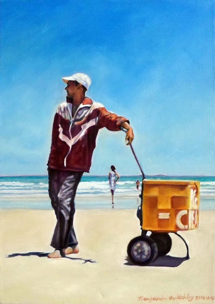"""'Where Is My Assistant?' Oil on canvas, W: 260mm x H: 340mm x D: 40mm,   W: 10"""" x H: 13"""" x D: 2""""  #Art #Painting #Oil #Fine_Arts #Contemporary #Benjamin_Mitchley #Figurative #Female #Male #South_Africa"""