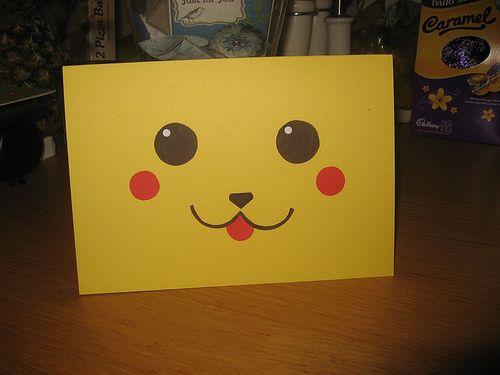 Pikachu Pokemon Birthday Card