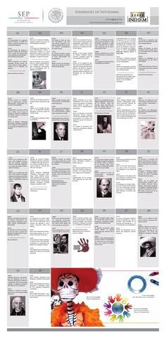 EFEMÉRIDES DE NOVIEMBRE SEP INEHRM  Efemérides mexicanas correspondientes al mes de noviembre editadas por la Secretaría de Educación Pública a través del Instituto Nacional de Estudios Históricos de las Revoluciones de México