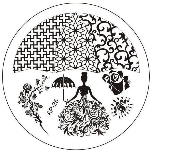 АП-25 Моды DIY Для Ногтей Красоты Nail Art Image Stamp Штамповка Плиты 3D Nail Art Шаблоны Трафаретов Маникюр Инструменты