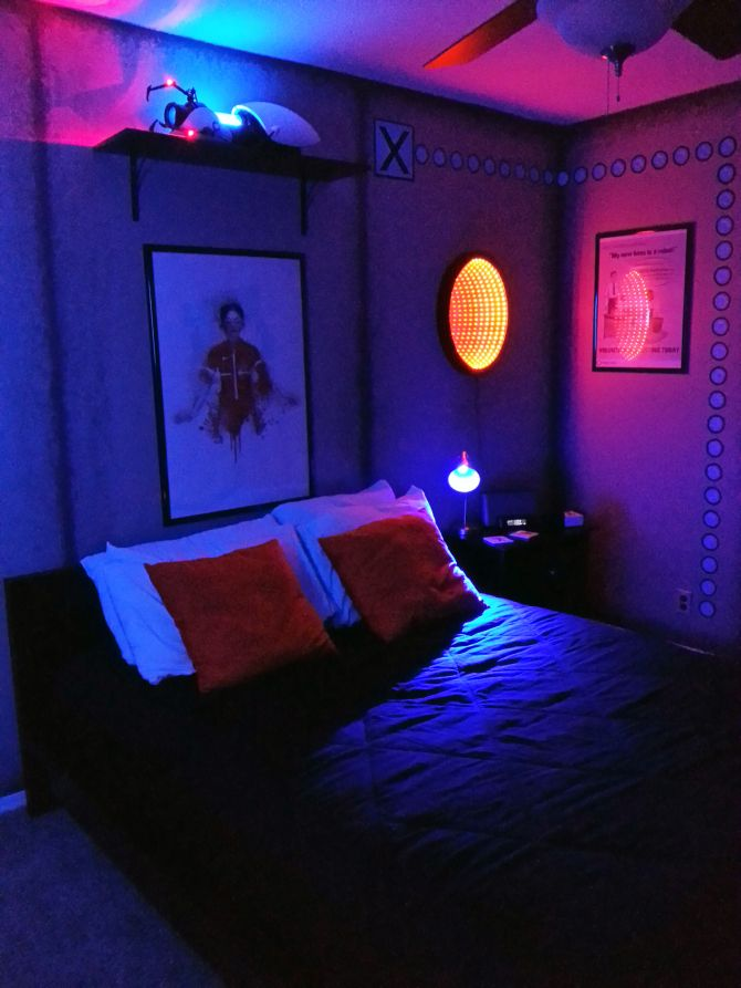 Portal Bedroom Gamer room, Game room decor, Bedroom themes