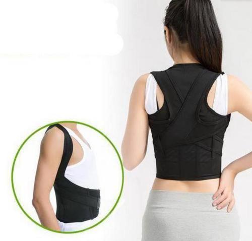 ca84acda36331 POSTURE CORRECTOR Lumbar Support Belt Round Shoulder Back Brace Scoliosis
