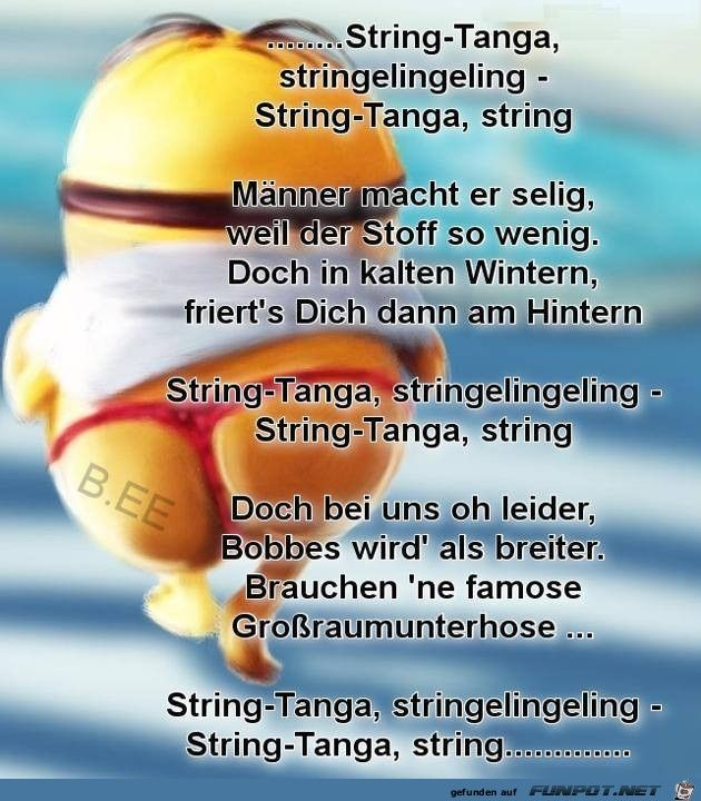 lustiges Bild 'String-Tanga.jpg' von Luigi. Eine von 61029 Dateien in der Kategorie 'Lustiges' auf FUNPOT.