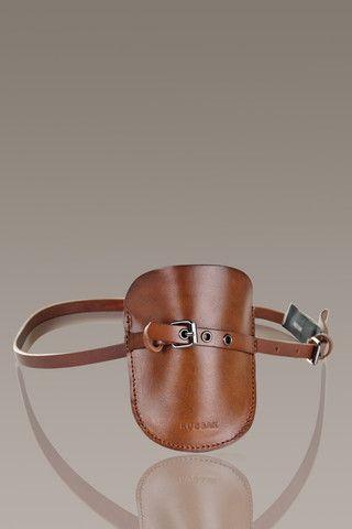 RUDSAK 'Samson' Pouchette Leather Belt, Brown