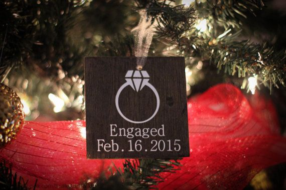 Personalized Engagement Ornament.  Engagement by ScaleAndTailor