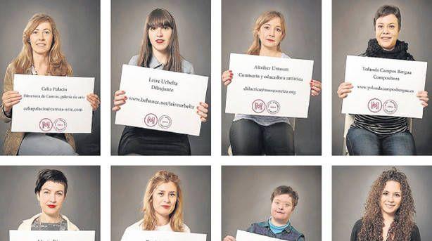 Ocho de las profesionales navarras implicadas en el Festival Miradas de Mujeres, en imágenes sacadas del vídeo grabado este año para el programa 'Metrópolis' de 'TVE'. Fotos: En Clave Visual