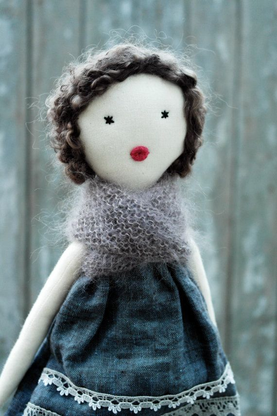 handmade beautiful rag doll by lespetitesmains