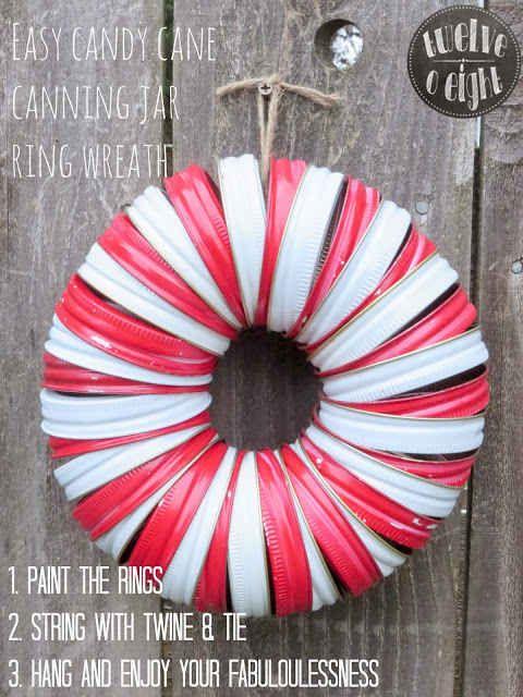 Canning Jar Lids DIY Wreath
